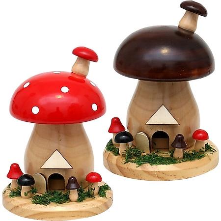 SIGRO Holz Räucherfigur Pilz - Bild 1