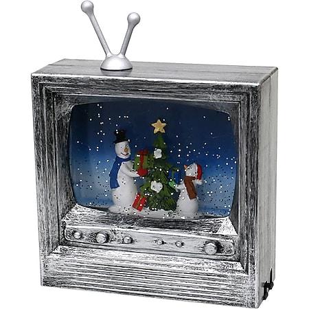 SIGRO LED Fernseher mit Schneemannfamilie - Bild 1