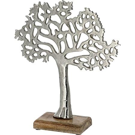 HTI-Living Lebensbaum silber mit Fuß - Bild 1