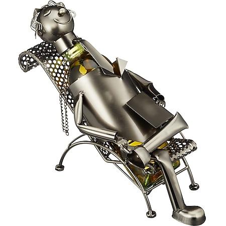 HTI-Living Weinflaschenhalter Liegestuhl - Bild 1