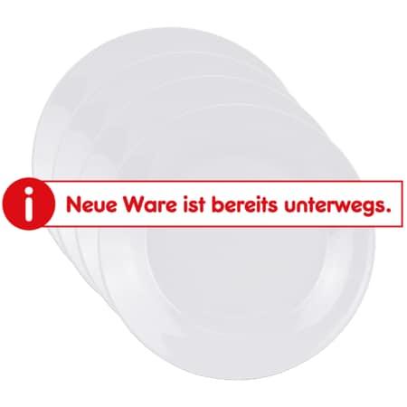 neuetischkultur Porzellan-Teller, 4 Stück Weiß - Bild 1