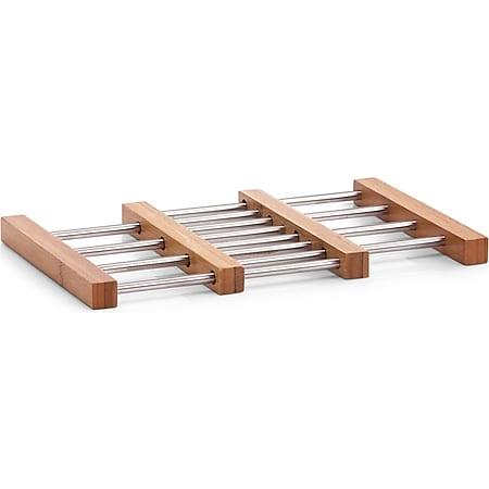 neuetischkultur Topfuntersetzer, ausziehbar Bambus, Edelstahl - Bild 1