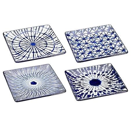 neuetischkultur Teller Steinzeug Blau-Weiß - Bild 1