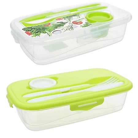 neuetischkultur Frischhaltedose mit Besteck 2 Stück Easylunch - Bild 1
