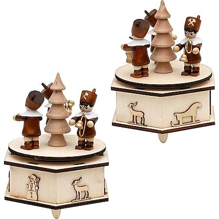 SIGRO Holz Spieldose mit Bergmannfiguren - Bild 1