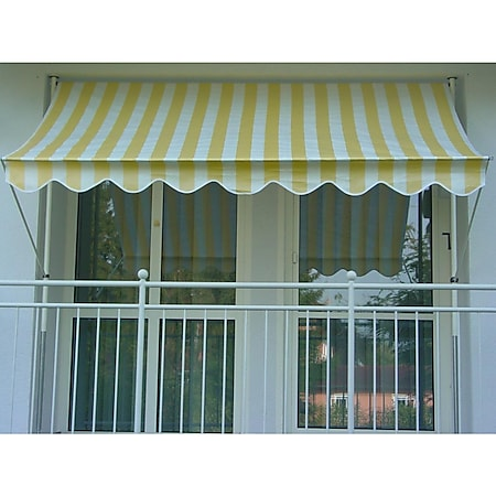Angerer Klemmmarkise gelb/weiß 400 cm - Bild 1
