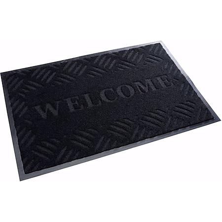 acerto® Schmutzfangmatte WELCOME schwarz 40x60cm - Bild 1