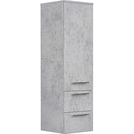 Posseik Hochschrank 120 cm in Beton mit Glaseinlagen - Bild 1