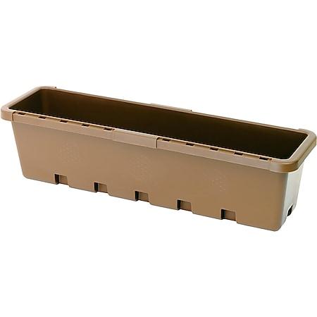 GreenLife Blumenkasten / Kräuterbox 3 Stück, terrabraun, komplett - Bild 1