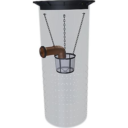 GreenLife Sickerschacht 500 l Gartenentwässerung Regenwassertank mit Sieb - Bild 1