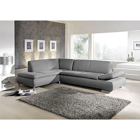 Max Winzer Terrence Ecksofa links mit Sofa 2,5-Sitzer rechts grau - Bild 1