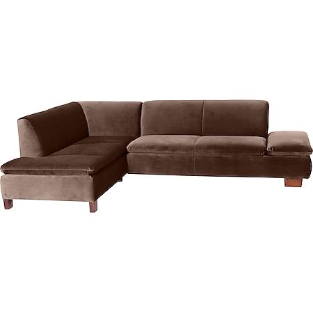 Max Winzer Terrence Ecksofa links mit Sofa 2,5-Sitzer rechts braun - Bild 1