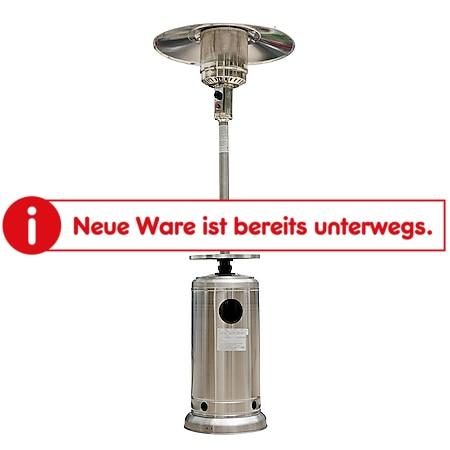 Outsunny Gas Heizstrahler Pilz silber 81 x 222 cm (ØxH) | Terrassenheizpilz Gartenheizung Standheizstrahler - Bild 1