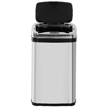 HOMCOM Automatik Mülleimer mit IR Sensor silber 33 x 25 x 58 cm (LxBxH) | Auomatik Abfalleimer Kücheneimer Müll Abfall - Bild 1