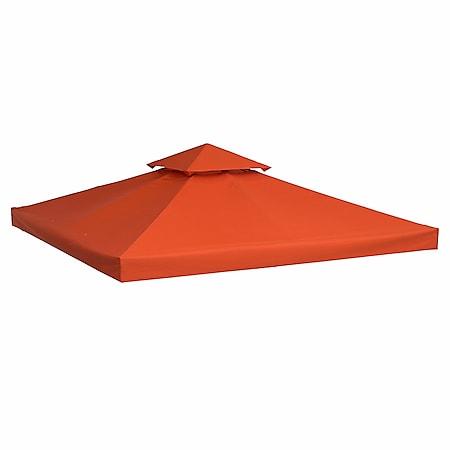 Outsunny Ersatzdach für Metall-Pavillon terra 3 x 3 m (BxL)   Metall-Gartenpavillon Partyzelt Pavillondach Dach - Bild 1
