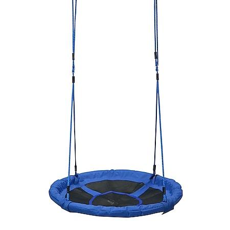 HOMCOM Rundschaukel für Kinder blau 100 x 180 cm (ØxH)   Kinder Schaukelsitz Gartenschaukel Tellerschaukel - Bild 1