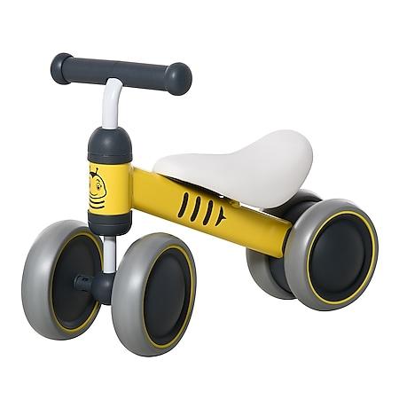 HOMCOM Kinder Laufrad gelb 49 x 19 x 35 cm | Kids Lauffahrrad Lauflernrad Kinder Balance Bike - Bild 1