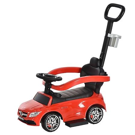 HOMCOM Rutschauto mit Schub- und Haltestange 84 x 40 x 83 cm (LxBxH) | Kinder Rutscherfahrzeug Kids Rutscher Lauflernhilfe - Bild 1