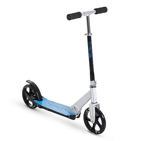 HOMCOM Tretroller für Kinder blau, weiß 84 x 34 x 86-96 cm (LxBxH) | Kids Scooter Kinderroller Cityroller Kickboard - Bild 1