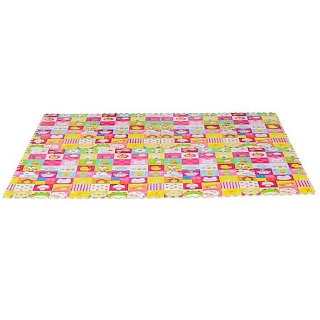 HOMCOM Puzzlematte 16-teilig mehrfarbig 61,5 x 61,5 x 1 cm (LxBxH)   Matte Spielmatte Bodenschutzmatte Bodenmatte - Bild 1
