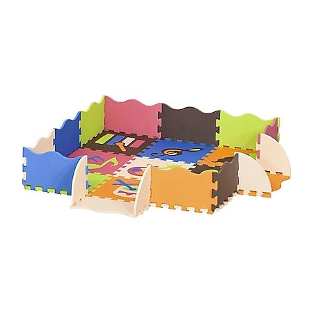 HOMCOM Puzzlematte 25-teilig bunt 120 x 90,5 x 16,5 cm(LxBxH) | Kindermatte Spielmatte Bodenschutzmatte Bodenmatte - Bild 1