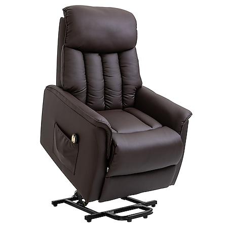 HOMCOM Fernsehsessel mit Aufstehhilfe 80 x 94 x 104 cm (BxTxH) | Elektrischer Aufstehsessel Relaxsessel Sessel - Bild 1