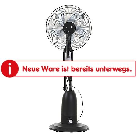HOMCOM Standventilator mit Wasserzerstäuber schwarz, silber 44,5 x 44,5 x 120 cm (BxTxH)   Ventilator Lüfter Wasserzerträuber Klein Klima - Bild 1
