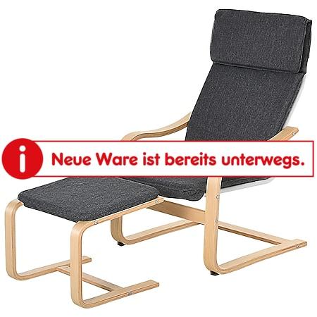 HOMCOM Relaxsessel mit Fußhocker | Ruhesessel Relaxstuhl TV-Stuhl Wohnzimmersessel - Bild 1