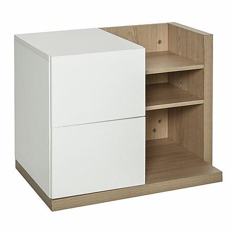 HOMCOM Schreibtisch Organizer mit 2 Schubladen weiß 60 x 40 x 45 cm (LxBxH)   Aufbewahrungsbox Büro Organisation Schreibtischbox - Bild 1