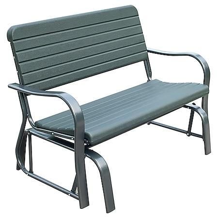 Outsunny Schaukelbank für 2 Personen dunkelgrün 125 x 73 x 88 cm (LxBxH) | Gartenbank Gartenschaukel Sitzbank Parkbank - Bild 1