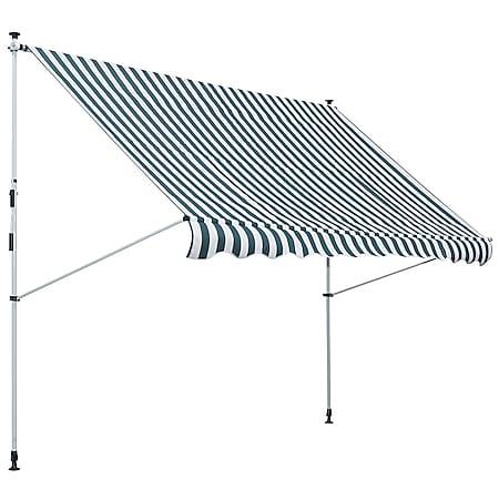 Outsunny Klemmmarkise mit Faltarm 300 x 150 cm (BxL)   Markise Sonnenschutz Terrassenüberdachung - Bild 1