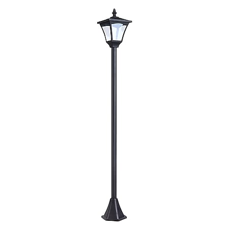 Outsunny Solar Laterne schwarz 15 x 15 x 120 cm (LxBxH)   Gartenlaterne Gehwegleuchte Gartenleuchte - Bild 1