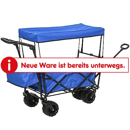 DURHAND Bollerwagen faltbar 110 x 56 x 101 cm (LxBxH) | Handwagen Transportkarre faltbarer Bollerwagen - Bild 1