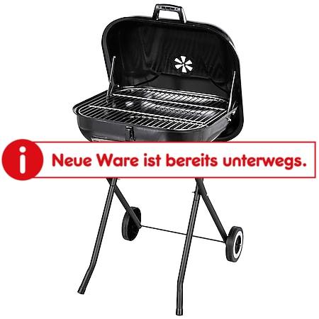 Outsunny Holzkohlegrill mit Rädern schwarz 57 x 70 x 86 cm (BxTxH) | BBQ Grill Standgrill Gartengrill Grillwagen - Bild 1