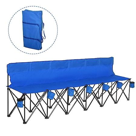 Outsunny Campingbank mit Tragetasche 279 x 48 x 80 cm (LxBxH) | Faltbank 6-Sitzer Gartenbank Camping Sitzbank - Bild 1