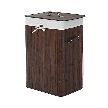 HOMCOM Wäschekorb mit 2 Tragegriffen 40 x 30 x 60 cm (LxBxH) | Wäschesammler Wäschetruhe Wäschekörbe Wäschebox - Bild 1