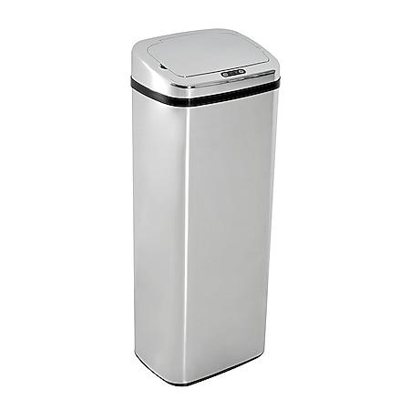 HOMCOM Mülleimer mit Sensor silber 33 x 25 x 84 cm (LxBxH) | Auomatik Abfalleimer Kücheneimer Müll Abfall - Bild 1