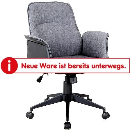 Vinsetto Bürostuhl mit Wippfunktion grau, schwarz 63 x 67 x 93-102 cm (BxTxH)   Schreibtischstuhl Computerstuhl Drehstuhl PC-Stuhl - Bild 1