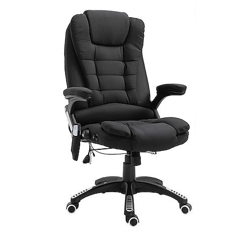 Vinsetto Bürostuhl mit Massage- und Wärmefunktion 67 x 67 x 116–126 cm (BxTxH) | Chefsessel Massagesessel Bürosessel PC-Stuhl - Bild 1