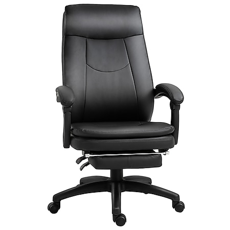 Vinsetto Bürostuhl mit Fußstütze 64 x 64 x 112-120 cm (BxTxH)   Chefsessel Gamingstuhl Drehstuhl Schreibtischstuhl - Bild 1