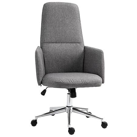 Vinsetto Bürostuhl ergonomisch grau 61 x 67 x 112,5-120,5 cm (BxTxH)   Büromöbel Schreibtischstühl Bürostuhl Drehstuhl - Bild 1