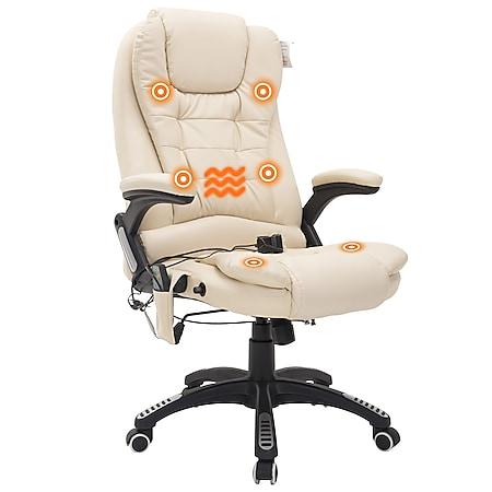HOMCOM Bürosessel / Chefsessel mit Massage- und Wärmefunktion 62 x 68 x (111-121) cm (BxTxH) | Chefsessel Massagesessel Bürostuhl Massagestuhl - Bild 1
