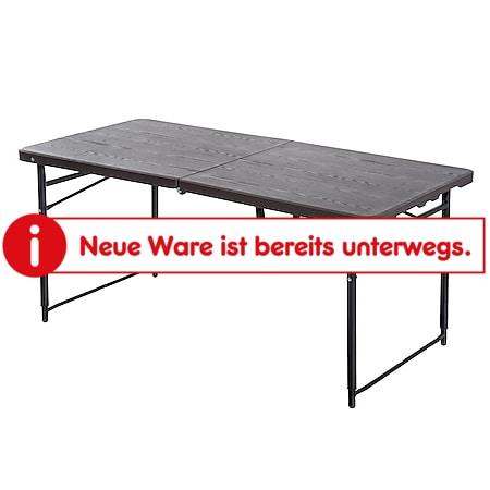 Outsunny Faltbarer Campingtisch braun/schwarz 122 x 61 x 53/71,5 cm (LxBxH) | Klapptisch Koffertisch Picknicktisch Falttisch - Bild 1