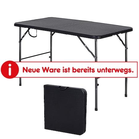 Outsunny Campingtisch schwarz 120 x 60 x 74 cm (LxBxH)   Klapptisch Koffertisch Picknicktisch Esstisch - Bild 1