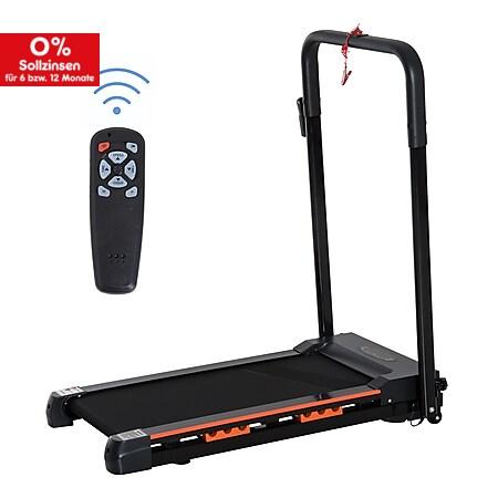 HOMCOM Faltbares Laufband mit LCD Display schwarz 54 x 101 x 105 cm (BxTxH) | Aerobic-Training Fitnessgerät Ausdauer Sport - Bild 1