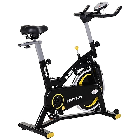 HOMCOM Fahrradtrainer mit stufenlosem Magnetwiderstand schwarz 120 x 47 x 104,5-117 cm (LxBxH) | Heimtrainer Indoor Cycling Fitnessfahrrad - Bild 1