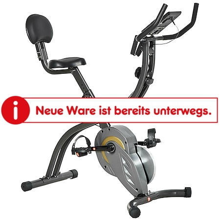 HOMCOM Fahrradtrainer 2-in-1 schwarz, grau 113 x 65 x 120 cm (LxBxH) | Heimtrainer Ergometer Fahrrad Fitnessgerät Fitness - Bild 1