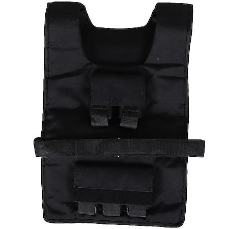 HOMCOM Trainingsweste mit 20 Eisengewichten schwarz 36 x 52 cm (BxL) | Gewichtsweste Krafttraining Trainingsworkouts - Bild 1