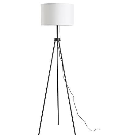 HOMCOM Tripod-Stehlampe schwarz, weiß 37 x 152 cm (ØxH) | Leselampe Stehleuchte Tripodlampe Wohnzimmerlampe - Bild 1
