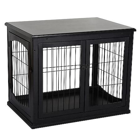 PawHut Hundekäfig mit 2 Türen 81 x 58,5 x 66 cm (BxTxH)   Hundehaus Hundetransportbox Ruhebox Hundebox - Bild 1